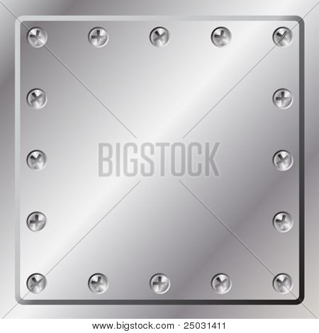 Metal Background with Screws