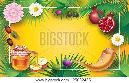 Rosh hashanah vector photo free trial bigstock rosh hashanah greeting card jewish new year shana tova on hebrew have m4hsunfo