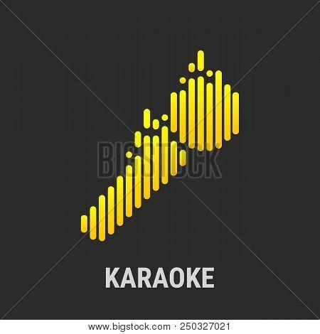 A Microphone Logo For A Karaoke Bar Or Website
