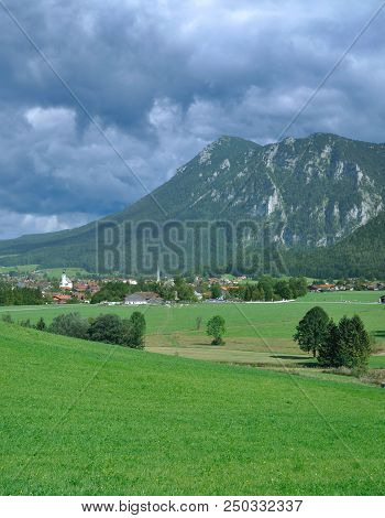 Village Of Inzell In Chiemgau In Upper Bavaria,germany