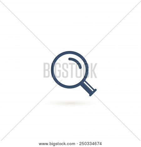 Magnifying Glass Icon Vector, Magnifier Or Loupe Sign, Modern Symbol Vector Illustration.