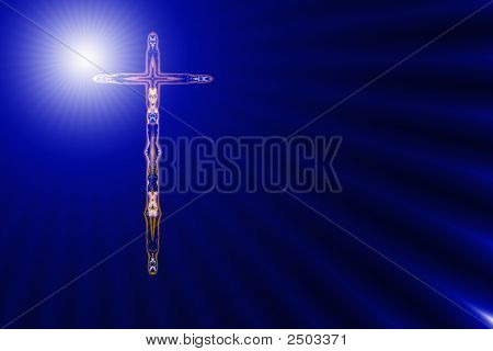 Upright Cross In Divine Light