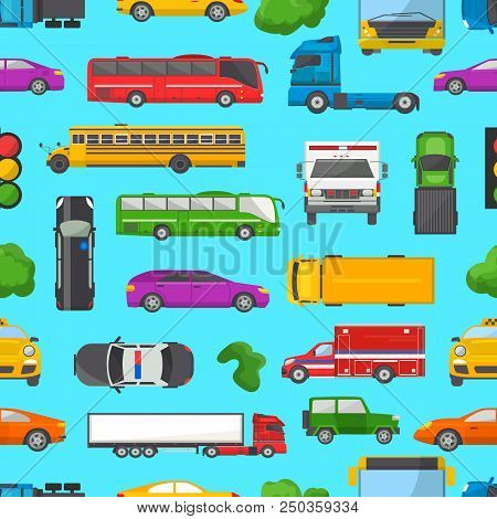 Traffic Jam Vector Transport Car Vehicle And Bus In The Rush Hour On Highway Road Vector Illustratio