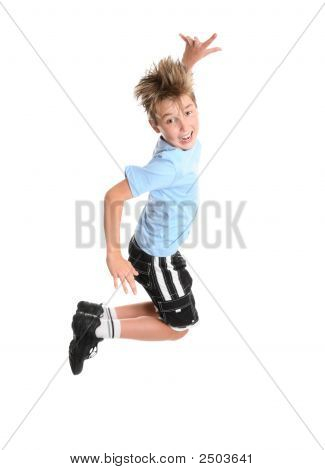 Active Boy Leaping