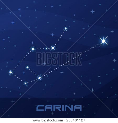 Constellation Carina, Keel, Night Star Sky Poster, Flyer Advertisement