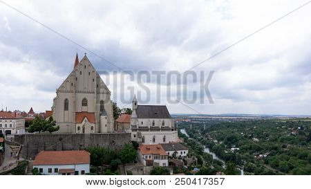 St Nicolas Church In Znojmo - Rear View From The Castle