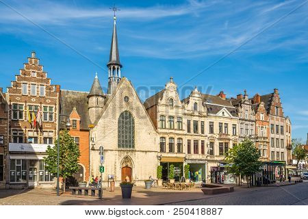 Lier,belgium - May 17,2018 - Saint Jacob Chapel In The Streets Of Lier. Lier Is A Municipality Locat