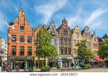 Mechelen,belgium - May 17,2018 - In The Streets In Mechelen. Mechelen Is One Of Flanders Prominent C