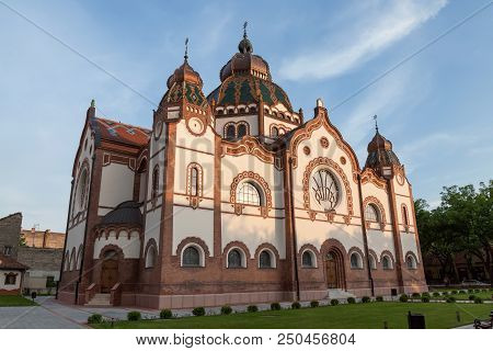 Subotica, Serbia - June 11th, 2018: Side View Of The Renewed Jewish Synagogue