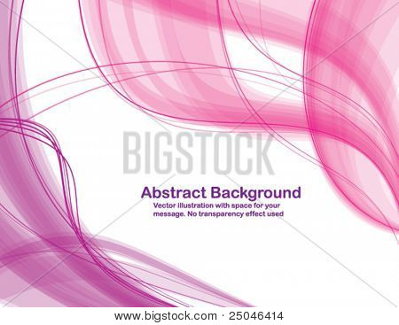 Abstract transparent waves on white background. Vector illustration.