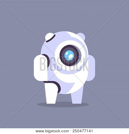 Chat Bot Robot Icon Artificial Intelligence Concept Chatbot Technology Gray Background Flat Vector I