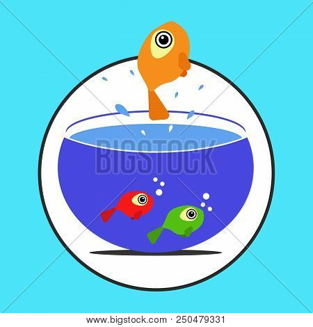 Fish Jumping Out Vector Photo Free Trial Bigstock