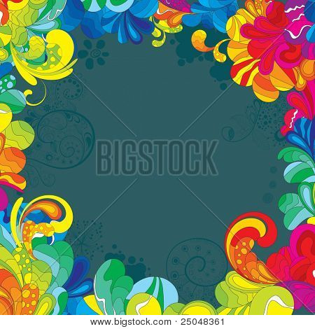 Colorful design for your message. All elements are separated and can be used to create your own composition.