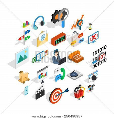 Team Leader Icons Set. Isometric Set Of 25 Team Leader Vector Icons For Web Isolated On White Backgr