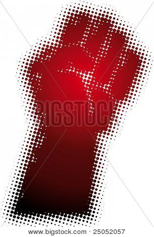 fist (from dots design series)