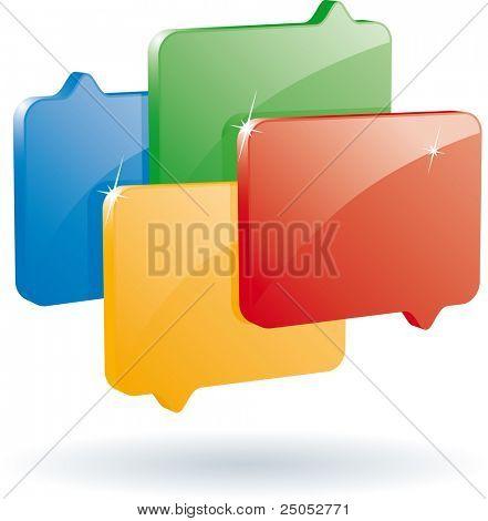 bubble speech icon (vector format)