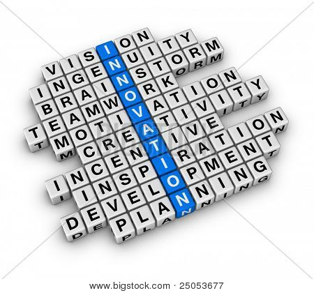 New Business Innovation (cubes crossword)