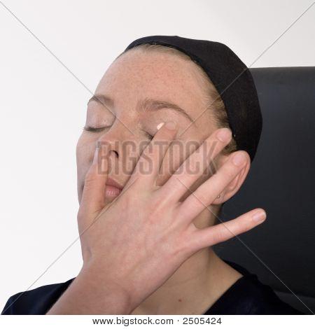Make Up Artist Applying Eye Make-Up