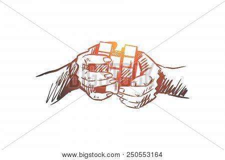 Idea, Brainstorming, Creative, Innovation, Mind Concept. Hand Drawn Isolated Vector.