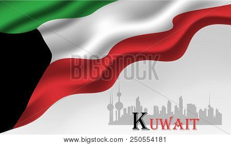 Vector Illustration Of Kuwait Happy National Day 25 Februay.  Background.