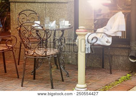 Cafe In The European City, Summer Terrace, Terrace