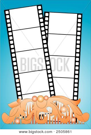 artistic frame negative film background vector illustration poster