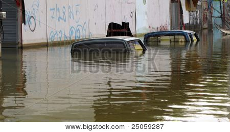 Two Flooded Cars