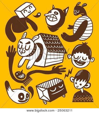 Doodles collection. Vector illustration.
