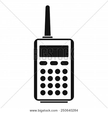 Talkie radio icon. Simple illustration of talkie radio vector icon for web design isolated on white background poster