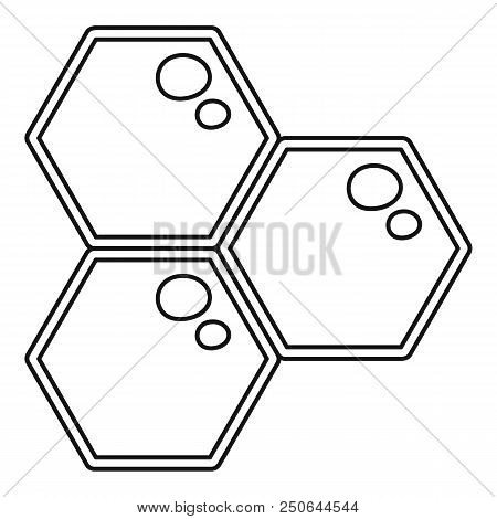 Honey Comb Icon. Outline Illustration Of Honey Comb Vector Icon For Web Design Isolated On White Bac