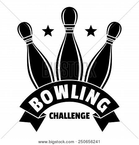 Bowling Challenge Logo. Simple Illustration Of Bowling Challenge Vector Logo For Web Design Isolated