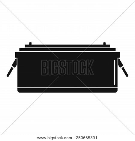 24 Volt Car Battery Icon. Simple Illustration Of 24 Volt Car Battery Vector Icon For Web Design Isol