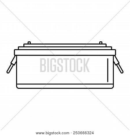 24 Volt Car Battery Icon. Outline Illustration Of 24 Volt Car Battery Vector Icon For Web Design Iso
