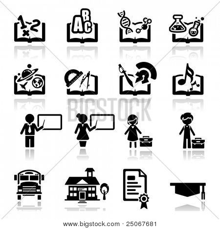 Icons set Education