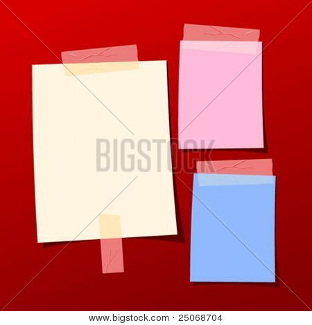 vector collection of taped notes