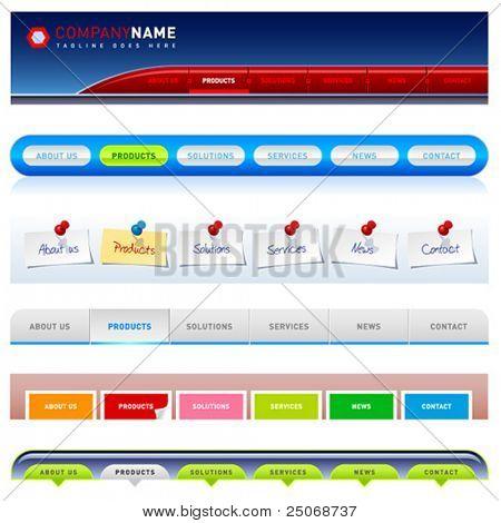 saubere Vektor, einfache Navigation Webvorlagen 2 bearbeiten