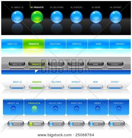 saubere Vektor, einfache Navigation Webvorlagen 8 bearbeiten