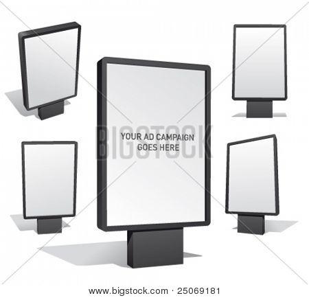 Set of blank outdoor billboards for designers.