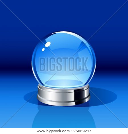 Vector snow-dome or crystal ball. Insert your own object. No mesh.