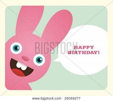 Birthday Card. Vector. No mesh.