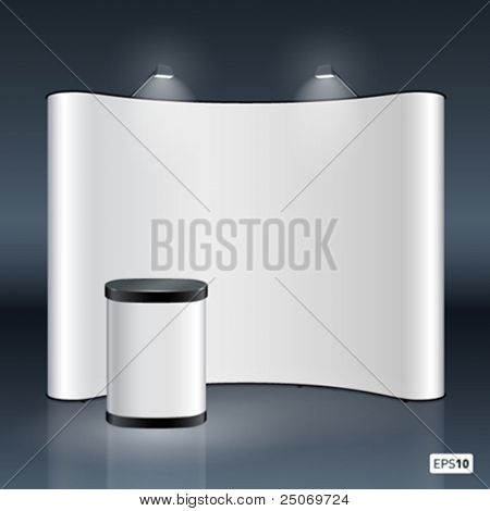 Vector blank trade show booth for designers