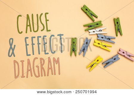 Text Sign Showing Cause And Effect Diagram. Conceptual Photo Visualization Tool To Categorize Potent