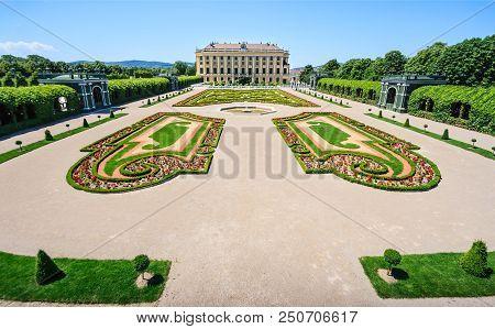 Vienna, Austria - June 16, 2012: Meidling Privy Gardens: Crown Prince Garden And The Garden On The C