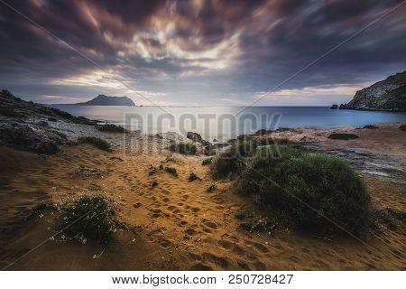 Beautiful Sunrise On The Playa Amarilla Next To Isla Del Fraile