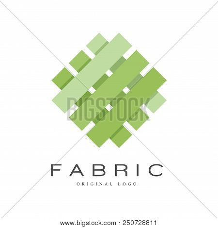 Fabric Original Logo, Creative Sign For Company Identity, Craft Store, Advertising, Poster, Banner,