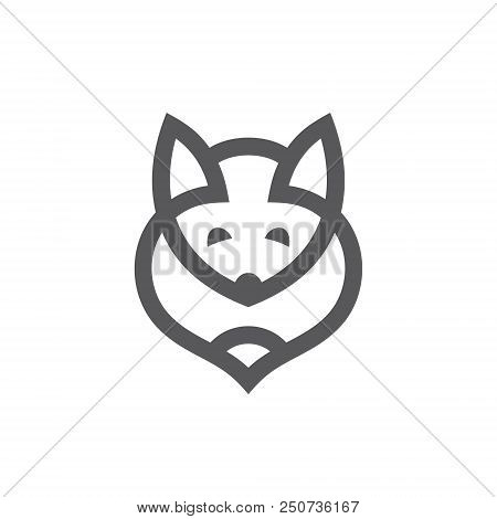 Foxy Head And Tail. Isolated On White Background