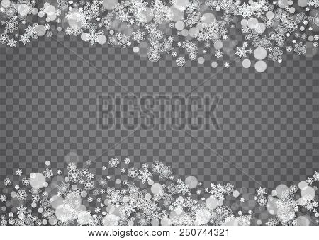 snowflake border for christmas and new year holidays horizontal snowflake border on transparent bac