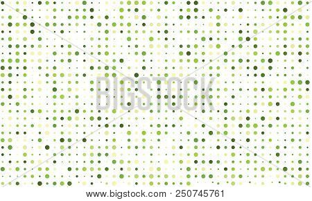 Vector Seamless Background Of Many Colored Circles Of Random Size And Random Shade. Shades Of Herbal