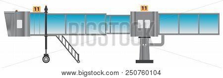 Glass Aero Bridge Or Jetway Or Jet Bridge Isolated