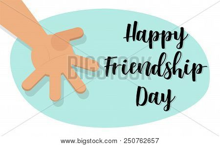 Happy Friendship Day Concept. Brotherly Handshake. Vector Illustration Hand(flat Style) For Happy Fr